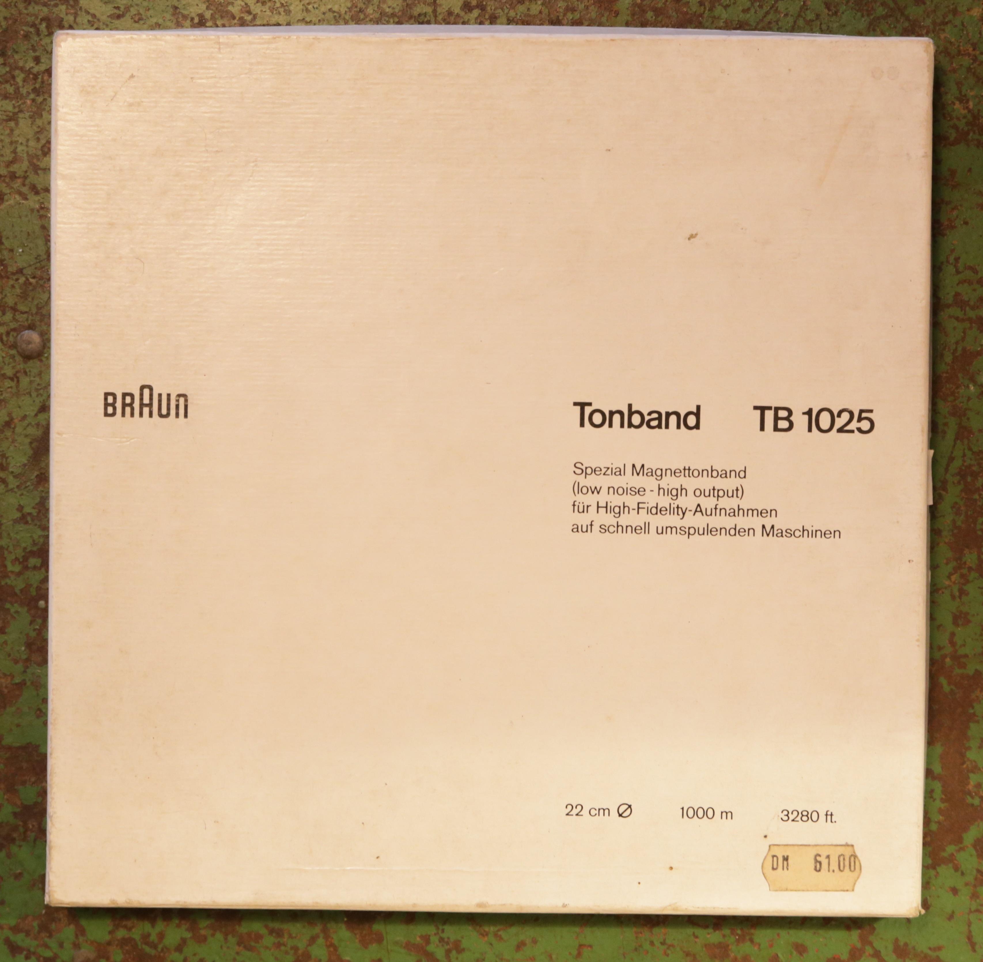 Die Verpackung des Braun TB 1025